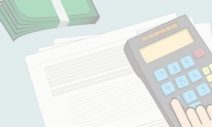 Grafika przedstawiająca zeszyt oraz kalkulator